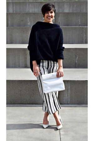 Zara sweater - white pants