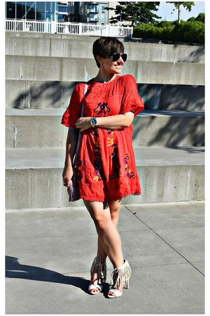red free people dress