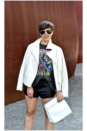 white Forever 21 jacket - gray Topshop t-shirt