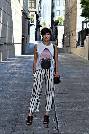 white striped culotte Zara pants