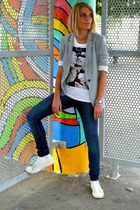 Zara blazer - Topshop jeans - Eleven Paris t-shirt - Converse sneakers