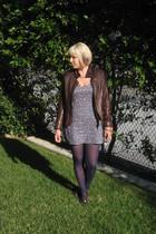 BlondeStarStyle dress - DKNY tights - My Favorite Things bracelet