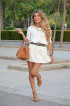 Zara shirt - Bimba & Lola bag - Zara skirt - Zara sandals