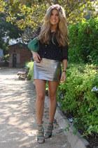 Mango skirt - Zara shirt - Parfois bag - Zara heels