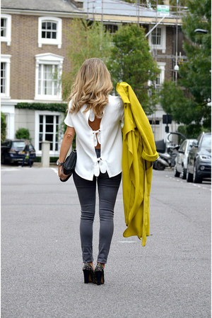 lime green Zara jacket