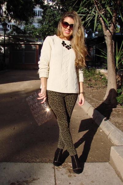 cream Primark sweater - Mango sunglasses - Zara Kids pants