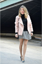 black Choies skirt - light pink Stradivarius jacket