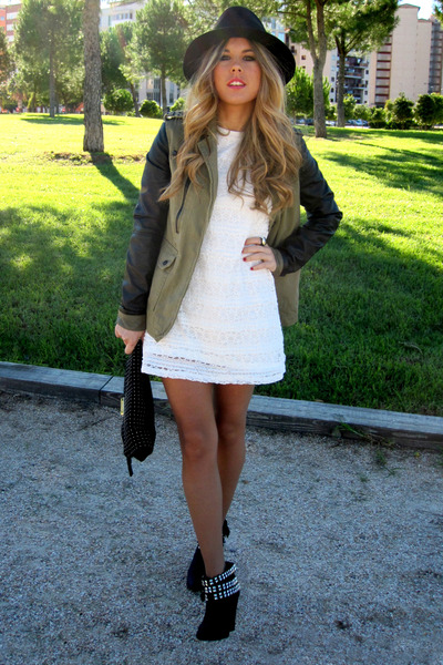 Zara boots - Zara dress - Bershka jacket - Mango bag