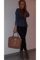 Topshop shoes - Zara shirt - Guess bag