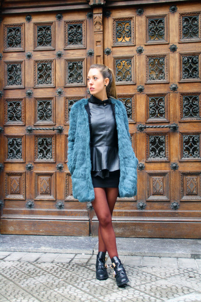 Zara coat - choiescom boots - Bimba & Lola bag - choiescom top