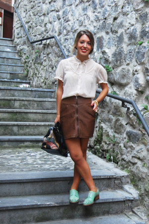 H&M skirt - asos shoes - vintage bag - H&M blouse