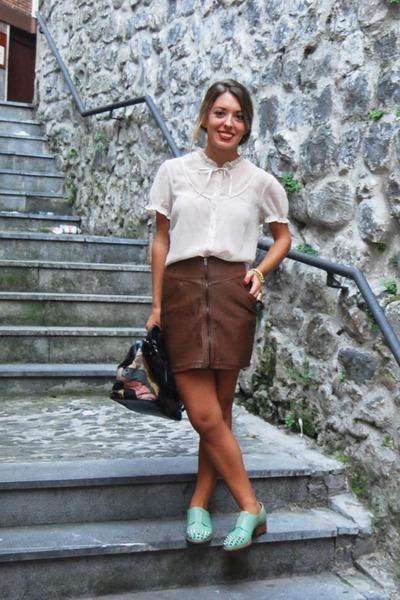 H&M skirt - asos shoes - vintage bag - H&M blouse