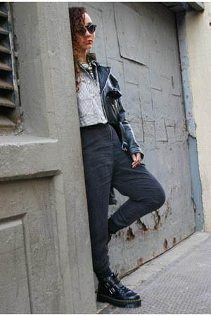 bryony Dr Martens boots - black vintage jacket - white vintage jacket