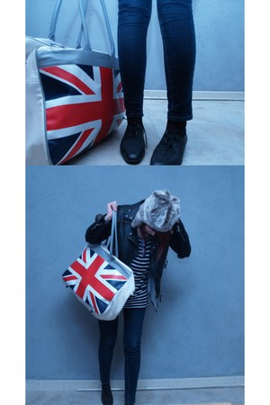 Teo Jasmin bag - Beryl shoes - Kookai t-shirt - pieces hat - Springfield jacket