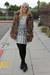 fur thrifted vintage coat - lace thrifted vintage dress