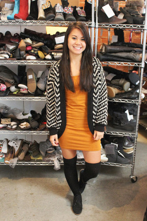 chevron Forever 21 cardigan - ankle boots Nordstrom boots