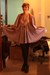 light purple vintage dress - black  tights - brown thrifted vest - black f21 hee