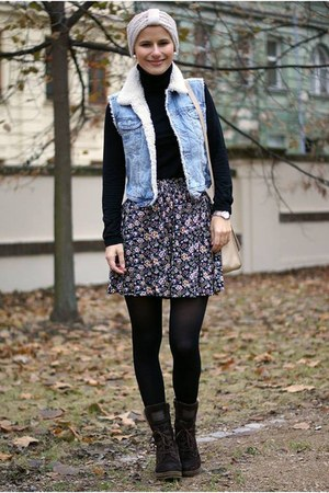 H&M vest - reserved bag - Tally Weijl skirt