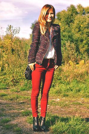 Zara blazer - H&M shirt - Zara pants - Mango heels