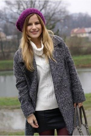 lindex sweater - F&F boots - c&a coat - H&M skirt