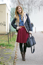 Zara jacket - CCC boots - lindex bag - Tally Weijl blouse