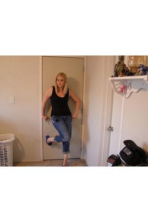 blue Pac Sun jeans - black New York & Company - blue Steve Madden shoes - black