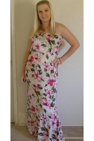 hot pink floral print Forever 21 dress