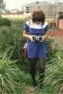 Blue-thrifted-belt-blue-handmade-by-myself-dress-gray-target-stockings-bro