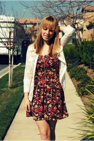 American Rag dress - American Rag blouse - American Eagle wedges