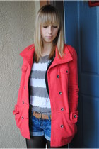 Hurley coat - American Eagle belt - Target tights