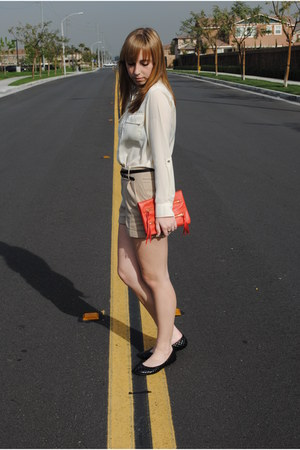 H&M bag - H&M shorts - H&M belt - Target flats - Apt 9 blouse