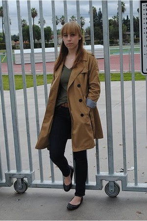 merona coat - Gap jeans