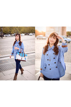 denim jacket Romwecom cape