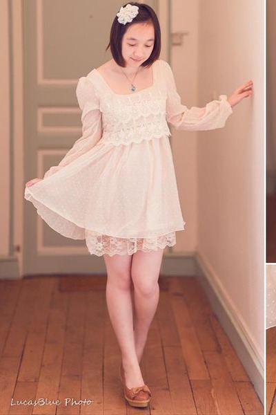 white lace angel love dress