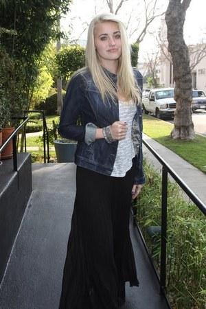 black Blue Tassel skirt
