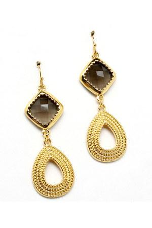 gold Blue Vanilla earrings