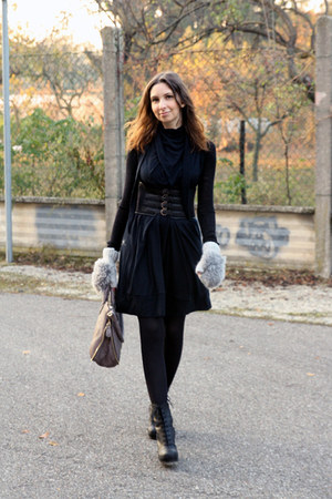 complexgeometries dress - acne boots - Elena Ghisellini bag - viktor & rolf belt