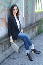 black whyred shoes - blue Diesel jeans - black Factory by Erik Hart blazer