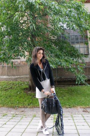 black BikBok jacket - black Marc by Marc Jacobs purse - white t by alexander wan