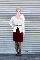 Anthropologie coat - Old Navy tights - thrifted vintage skirt - Urban Outfitters