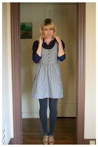 navy Target shirt - tan Forever 21 shoes - heather gray Urban Outfitters dress