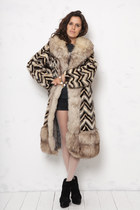 fur vintage coat