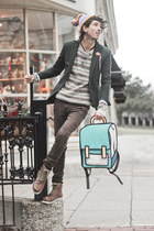 turquoise blue cartoon bag JumpFromPaper bag