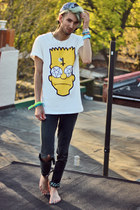 yellow bart is back romwe shirt