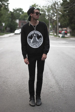black wasted wasted sweatshirt