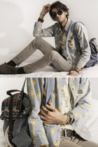 romwe shirt - aztec backpack romwe bag - Mcdonalds accessories