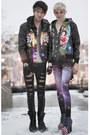 Psychedelic-romwe-jacket-galaxy-print-romwe-leggings