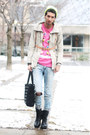 Dark-gray-combat-boots-romwe-boots-off-white-beige-jacket-river-island-coat