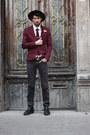Crimson-dotted-eton-tie