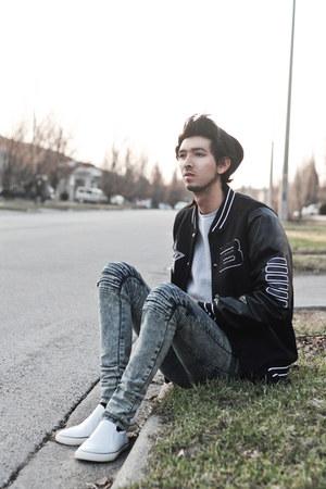 black varsity Choies jacket